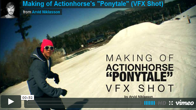 "Making of Actionhorse's ""Ponytale"" (VFX Shot)"